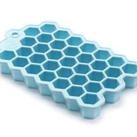 Outset Hex Silicone Ice Cube Tray and Chocolate Baking Mold - Small Hexagonal Cubes