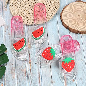 New summer women's crystal fruit slippers strawberry sandals