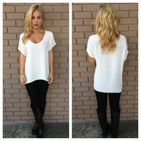 Ivory Short Sleeve Blouse