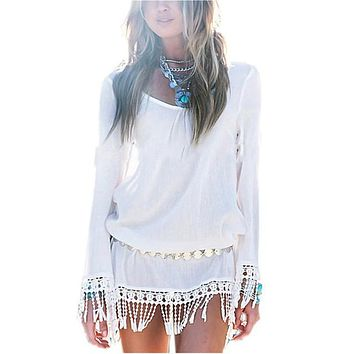 Boho Chiffon Mini Dress
