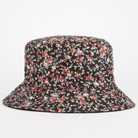 Ditsy Floral Reversible Womens Bucket Hat Black Combo One Size For Women 24547014901