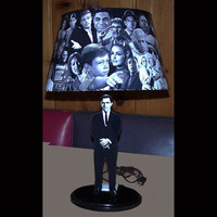 Classic TWILIGHT ZONE Rod Serling Lamp and lamp shade with over 70 IMAGES and optional SoUnD Rod Serling's show introduction
