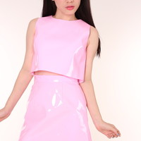 Glitters For Dinner — Made To Order - Pink PVC Motel Set