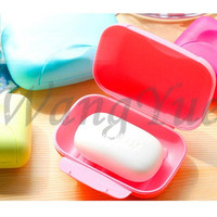 Hot New Bathroom Accessories Big Size Candy Color Soap Case With Cover Home Hotel Travel Soap Dish JJ_0163 = 1958528068