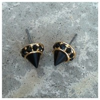Cute Girl Black Spike Studs