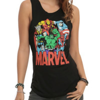 Marvel Avengers Group Girls Muscle Top