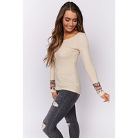 Simple Situations Long Sleeve Top (Oatmeal)