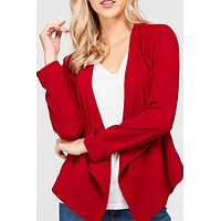 Open Front Long Sleeve Blazer (CLEARANCE)