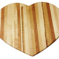 Side Grain Heart-Shaped Cutting Board, Cutting Boards