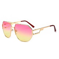 Gazal Stylish Women Men Personality Sunglasses Sun Shades Eyeglasses Glasses Pink I-8090-YJ