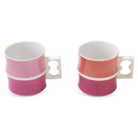 Pink & Orange Cups, Set of Two #huntersalley