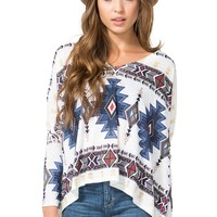 All Blue Tribal Slouchy