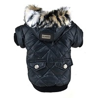Dog Winter Warm Coat Pets Faux Pockets Cat Puppy Hoodie Jacket Costumes Clothes XS-XXL Hot