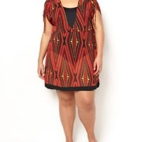 Plus Size Ti Voglio Printed High Low Cover Up Swim Dress | Penningtons