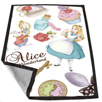 Alice in wonderland collage 9e0a41a0-e9b5-4203-80fc-0dd248c89390 for Kids Blanket, Fleece Blanket Cute and Awesome Blanket for your bedding, Blanket fleece *02*