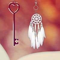 Keychain Feather Gifts Accessory Dream Catcher [10985319303]