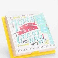 Today Is Going To Be A Great Day 2015 Calendar- Teal One