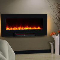 "36"" LED Backlit Electric Heater Wall Table Fireplace"