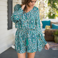 A Night Out Romper, Green