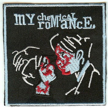 My Chemical Romance Iron-On Patch Square Couple Logo
