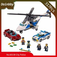 317Pcs City Series High-Speed Chase Set Building Block BricksKids Toys Birthday Gifts Compatible with Legoings 60138