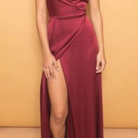 V-Neck Spaghetti Straps Prom Dresses,Prom Dress