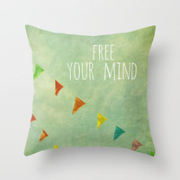 free your mind Throw Pillow by Sylvia Cook Photography | Society6