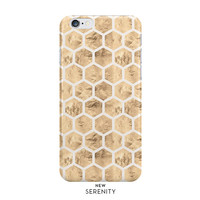 Rose Gold Hexagon iPhone Case, iPhone 6, iPhone 6 Plus, iPhone 5/5s, Samsung Galaxy Case,Faux Rose Gold Honeycomb, Sandy, NewSerenityStudio