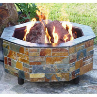"""Do-It-Yourself Ready-to-Finish 54"""" Octagon Fire Pit Kit"""
