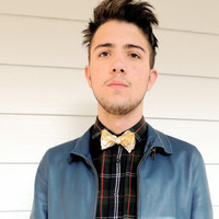 Bow Tie for Men, Teens and Boys Mustard Floral Cotton Fashion for Men from the John Richard Line for Urban Fashion