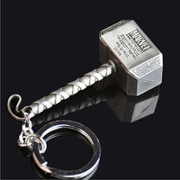 New Marvel The Avengers Thor Thor's Hammer Metal Keyring Keychain Silver