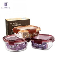 Glass Modern Style Food Storage Containers / Boxes Many Shapes & Sizes