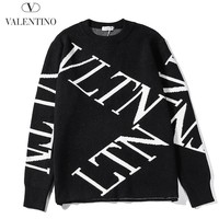 Valentino fashion hit for casual men and women with black slanted letters and logo sweaters