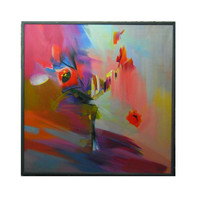 Tulips flowers giclee art print from original oil painting by Yuri Pysar, colorful canvas art ready for hanging