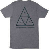HUF - Triple Triangle T-Shirt (Charcoal/Navy)