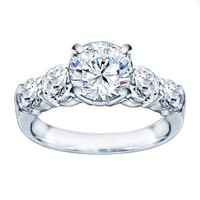3 1/2ct tw Diamond Engagement Ring in 14K White Gold