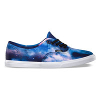 Vans Cosmic Galaxy Authentic Lo Pro Girls Shoes Black/True White  In Sizes