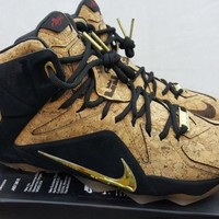 Nike Lebron 12 XII EXT Kings Cork Basketball Shoes 768829-100 Size 7