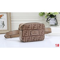 FENDI Trending Women Men Stylish Leather Purse Waist Bag Single-Shoulder Bag Crossbody Satchel 1#