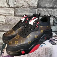 LV Louis Vuitton Fashion New Products Print Letters Platform Ladies Daddy Shoes Casual Shoes sneakersv