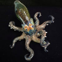 Blown Glass Pipe - Octopus Pipe - Tobacco Pipe - Octopus - Dichroic Glass