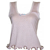 Cotton Pointelle Tank Top