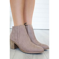 Roza Booties - Taupe