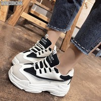 Mecebom 2018 Winter Warm Loafer Vulcanized White Shoes Platform Wedge Sneakers 52W Flat Heel Zapatillas Chaussures Canvas Mujer