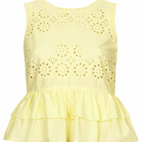 Broderie Frill Shell Top