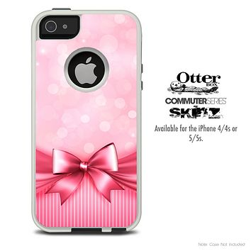 The Magical Pink Bow Skin For The iPhone 4-4s or 5-5s Otterbox Commuter Case