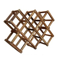 New Classical Wooden Red Wine Rack10 Bottle Holder Mount Kitchen Bar Wine Accessories For Home Decoration
