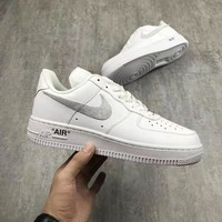 Nike Air Force 1 AF1 White For Women Men Running Sport Casual Shoes Sneakers