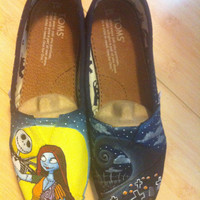 Nightmare Before Christmas, Custom TOMS Shoes, Featuring Jack Skellington, Sally, Zero, Shock Lock and Barrel