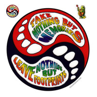 Leave Nothing but Footprints Yin Yang Window Sticker on Sale for $3.99 at HippieShop.com